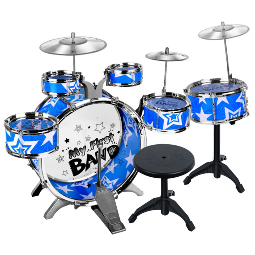 Children Kids Educational Toy Percussion Instrument Playing Drum Set Kit Simulation Jazz Drum Kit with 6 Drums free shipping b dmk7 professional percussion drums guitar brass 7 piece drumkit instrument microphone with carrying case