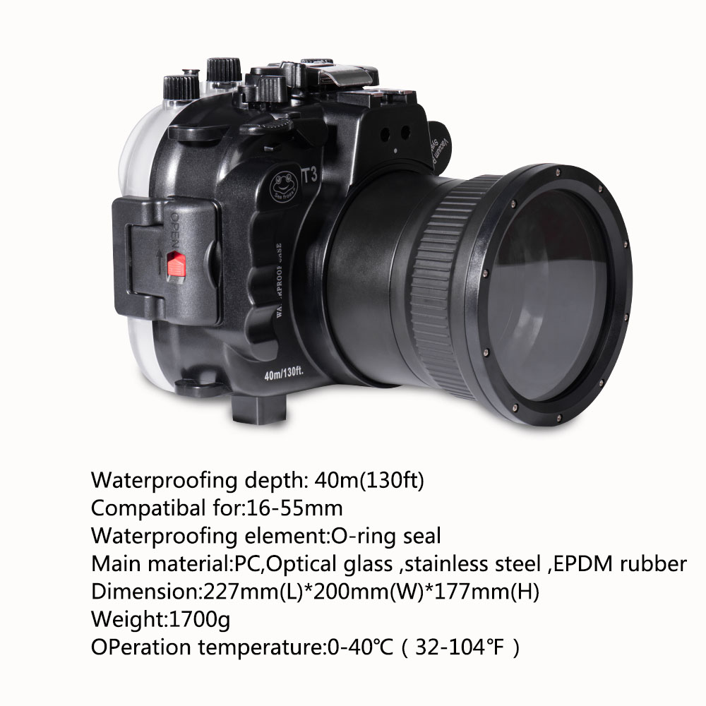 Mcoplus WP-XT3 40M/130ft Underwater Camera Waterproof housing <font><b>case</b></font> Bag for <font><b>fujifilm</b></font> Fuji <font><b>X</b></font>-<font><b>T3</b></font> XT3 16-55mm Lens Camera image