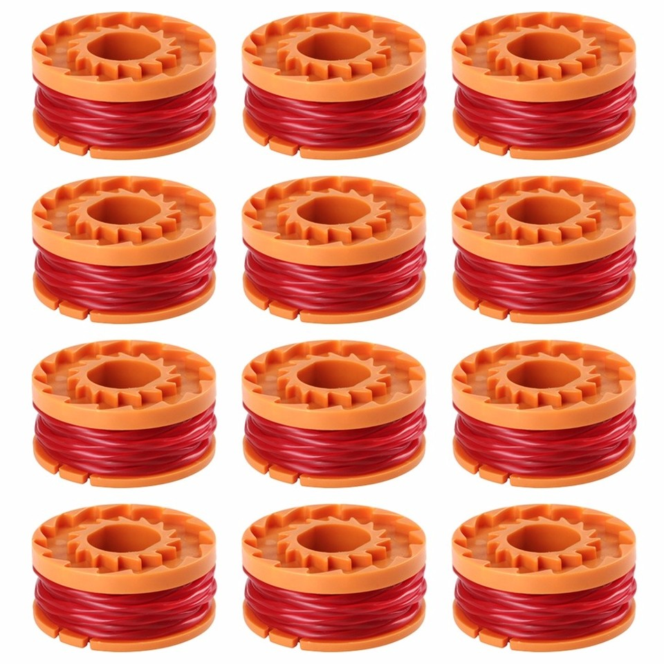WORX WA0010 Replacement Spool Line For Grass Trimmer//Edger,10ft 6-Pack