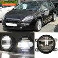 EeMrke Car Styling Para Fiat punto Evo 2009-2012 2 en 1 LED Luz de Niebla Lámpara Corriente Diurna DRL Con la Lente luces