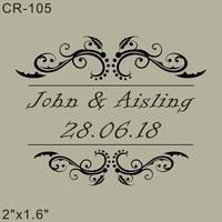 Wood Rubber Personalized Custom Wedding Stamps 2 X1 6 Invitation Card Seal The Logo Couples Name