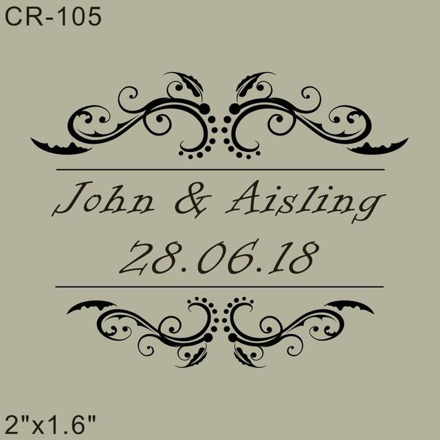 wood rubber personalized custom wedding stamps 2 x1 6 invitation