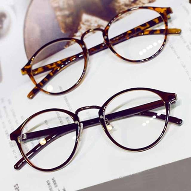 placeholder Óculos de Leitura das mulheres Fêmea Transparente Óculos  Redondos Vintage Frame Homens Óculos de Computador Homens b5934681f6