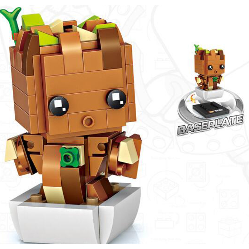 LOZ Baby Tree Building Blocks Guardians of the Galaxy Figure Mini Block Toys Hobbies Action & Toy FiguresAssembly Toys