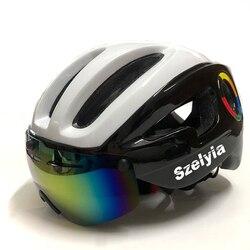Szelyia sport cyclisme casque lunettes M vtt montagne route vélo casque de vélo 3 lentille visière Cascos vtt bicicleta Ciclismo vélo