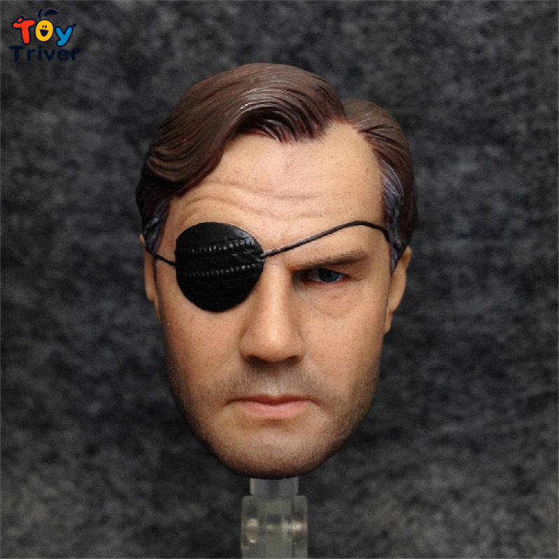 ФОТО 1/6 Scale The walking dead, one-eyed person Phillip Head Sculpt Head Model DIY Accessories Toy Action Figure Body 12