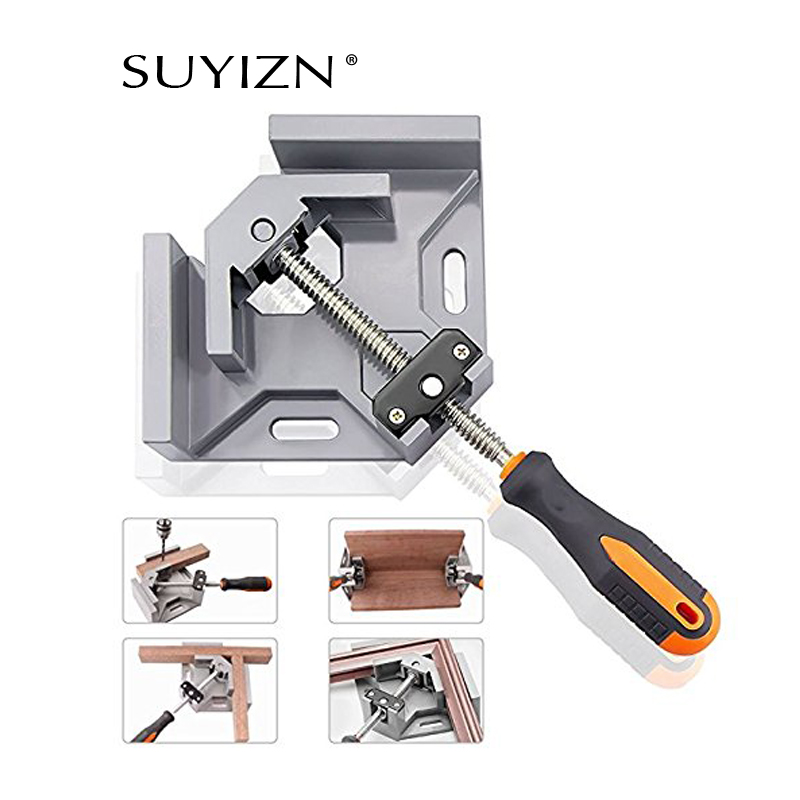90 Degree Right Angle Clamp Woodworking Cutting Tripod Adjustable Corner Clamp for Photo Frame Wood Frame