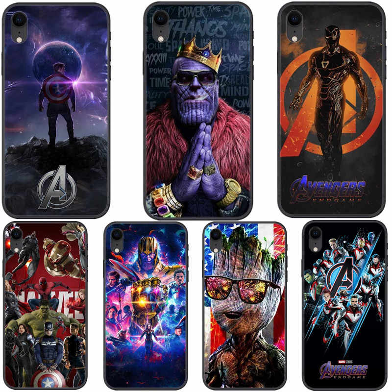 Avengers Endgame Phone Case For iPhone 7 8 Plus XS MAX XR Soft Marvel Iron Man Cover For iPhone X 6 6S Plus 5 SE Coque Fundas