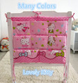 Promotion! Kitty Mickey 62*52cm Only Sale Waterproof baby bed hanging storage bag newborn crib organizer cot pocket