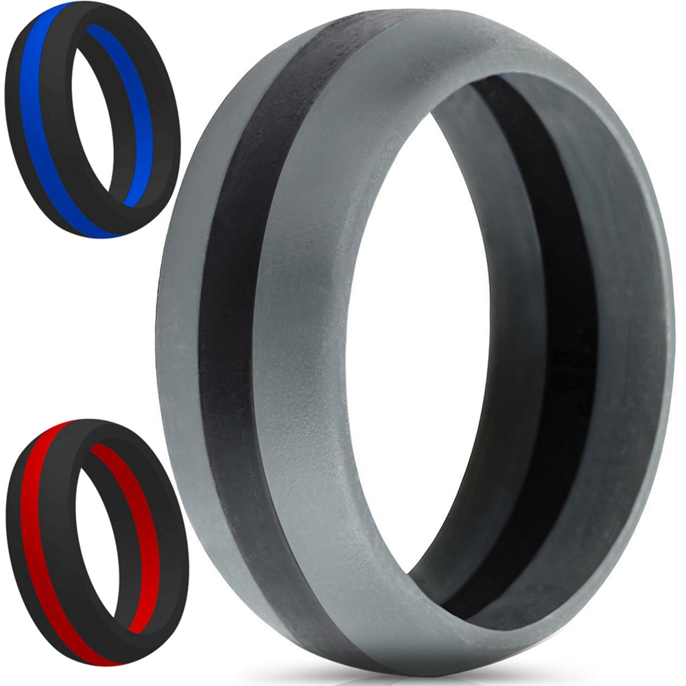 9mm Size 515 Silicone Ring Rubber Multi Color Hypoallergenic Crossfit  Flexible Ring Band Wedding