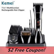 Kemei590A 7-in-1 multifunction rechargeable Grooming Beard Electric Shaver Men Razor Trimmer Kit professional Hair Clipper N30C