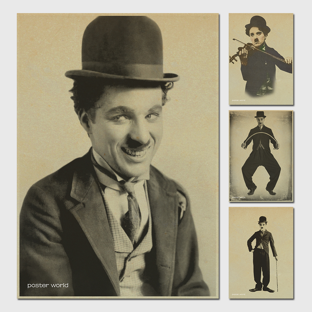 Theatre Charlie Chaplin Poster / Advertising posters / decorative painting paper posters wall sticker