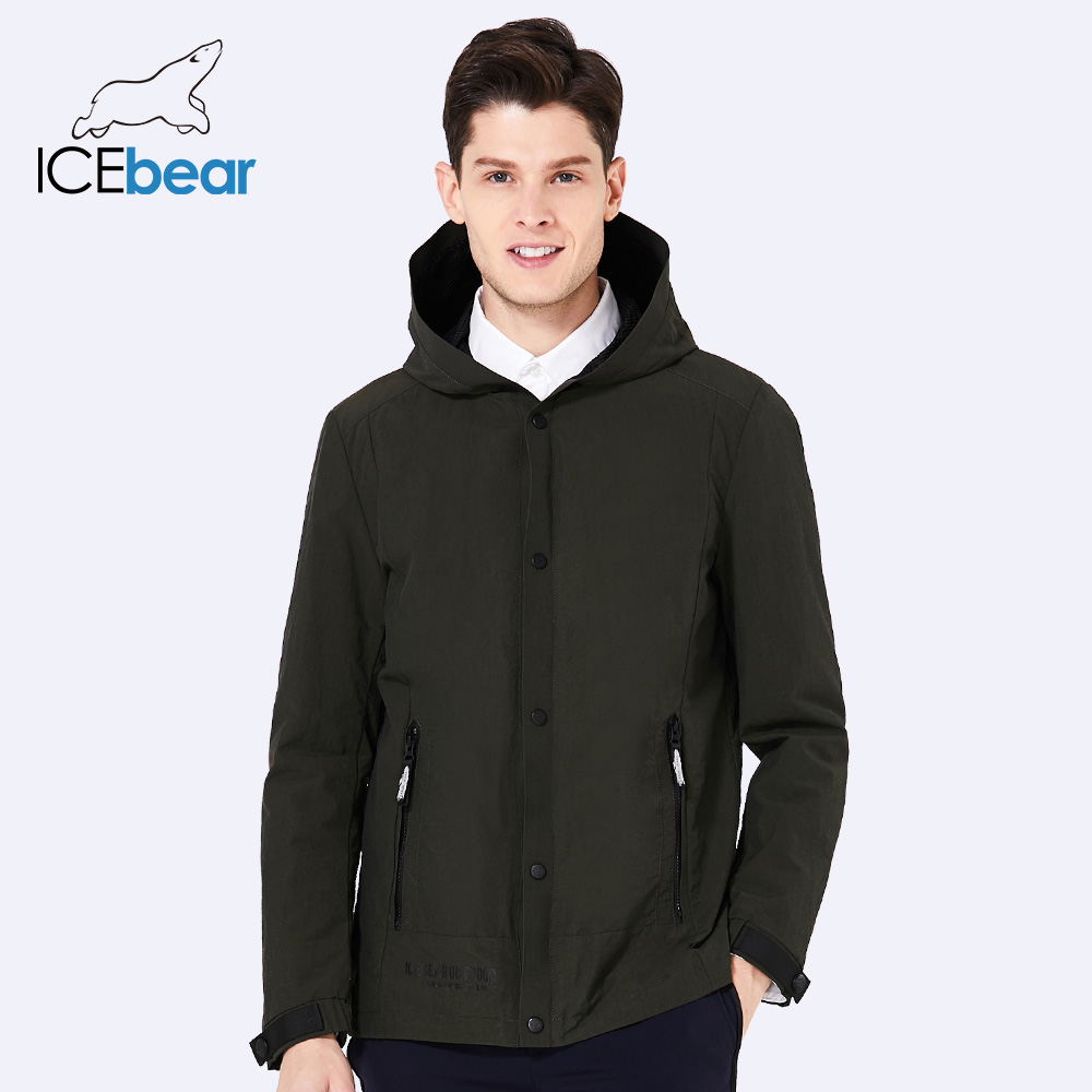 ICEbear 2018 fashion men's trench coat brand overcoat hooded casual trench coat windbreaker man fashion brand coats MWF18216D