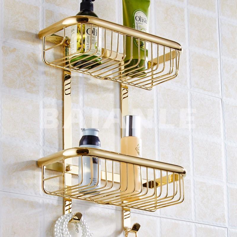 Uno dos capas de baño estante espacio toalla oro latón lavadora ... 9c89c0b59238