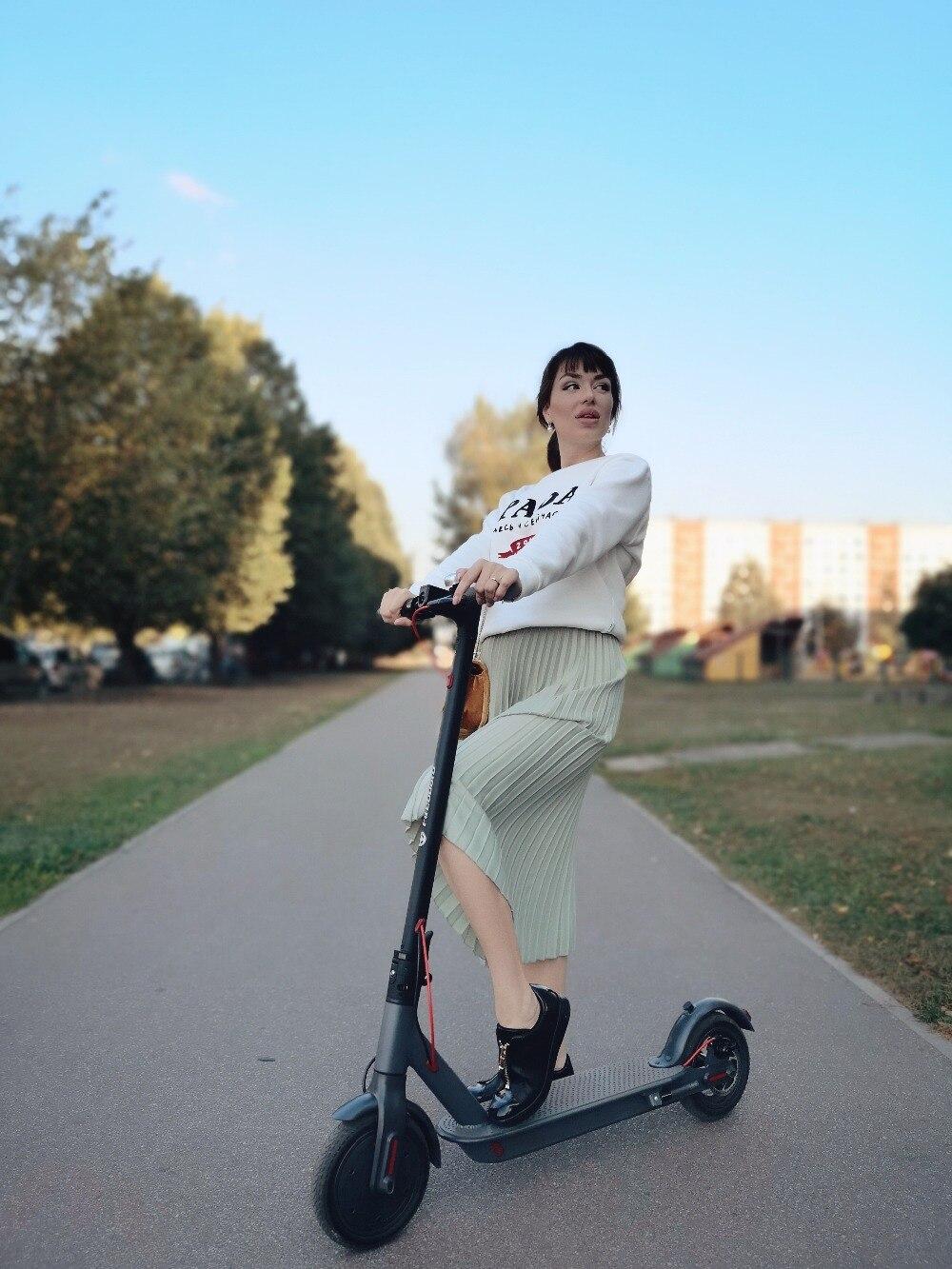 SUPERTEFF EW6 électrique scooter 30 km pliage kiki scooter 8.5 pouce solide pneus deux roues scooter facile à transporter et de stockage