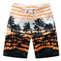 Men Board Shorts Casual Print Mens Hawaiian Shorts Swimwear Short Boardshorts Suff Beach Brand Clothing Big
