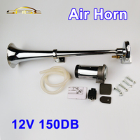 150DB 12V Air Horn Super Loud Single Trumpet Compressor Complete Set For Trucks Cars Automobiles Lorry