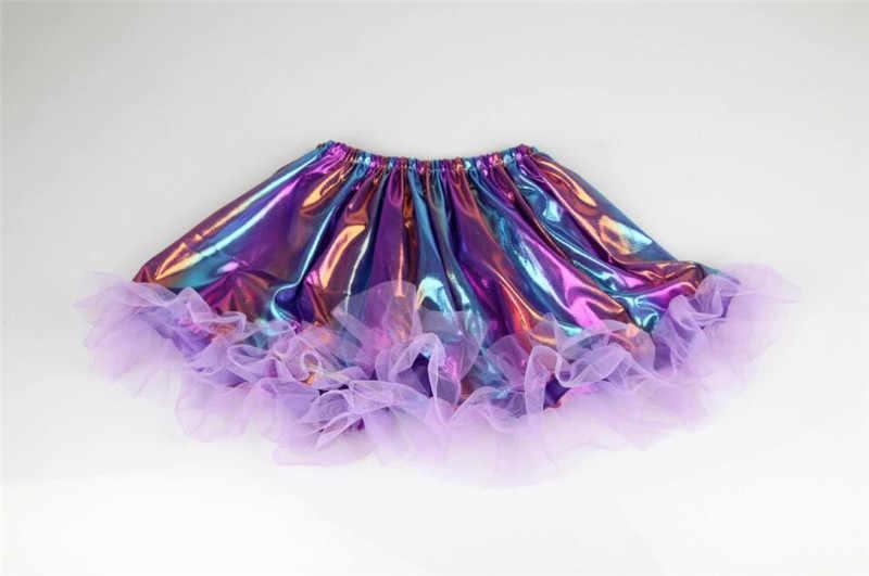 2-7Y/nuevas faldas de bebé niñas Arco Iris colorido niños disfraz princesa vestido de baile Ballet danza niñas tutú falda niños ropa a315