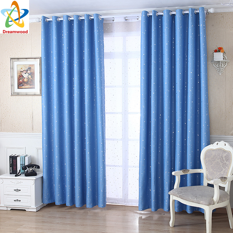 Aliexpress Buy Dreamwood Hot Simple Star Curtains Polyester High Shading Living Room 5 Colors Available Blackout Finished From