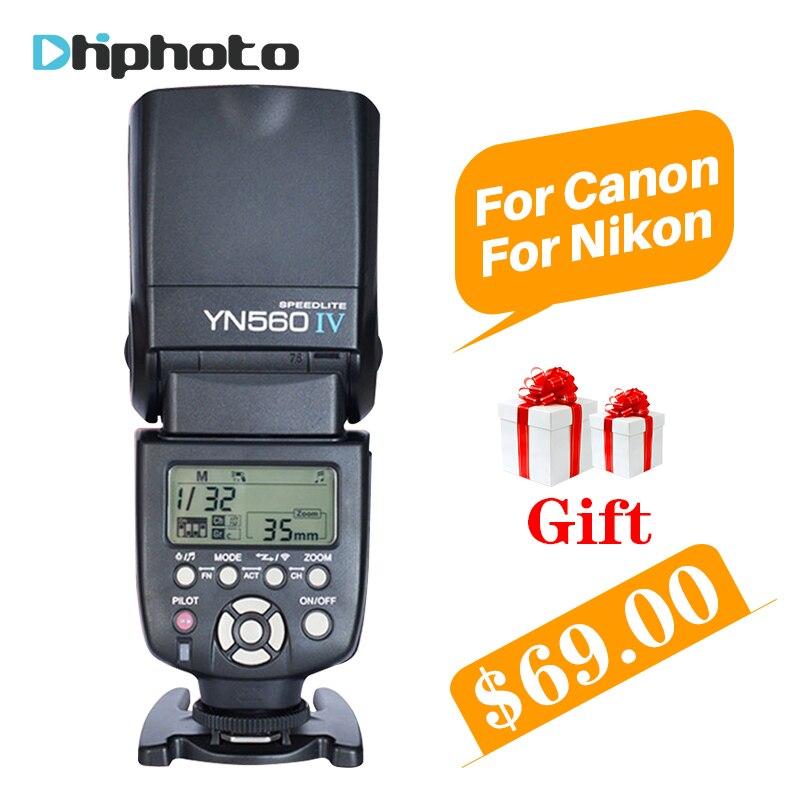 YONGNUO YN560 IV YN560IV Universale Senza Fili Master Slave Flash Speedlite per Nikon Canon Olympus Pentax DSLR Camera 4 Regali Gratis