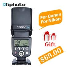 YONGNUO YN560 IV YN560IV Evrensel Kablosuz Master Slave Flaş Speedlite için Nikon Canon Olympus Pentax DSLR Kamera 4 Ücretsiz Hediyeler