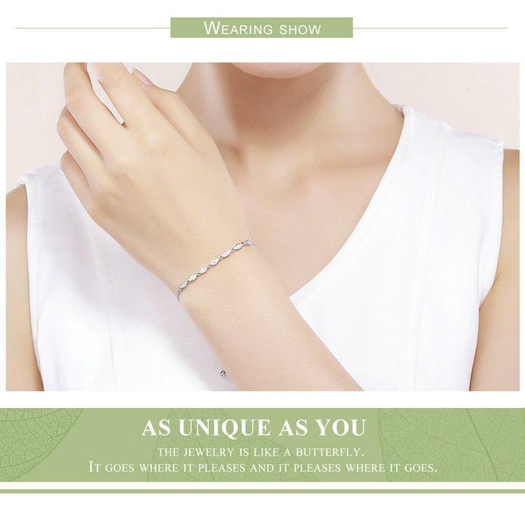 HTB11PcLEQSWBuNjSszdq6zeSpXau 925 Sterling Silver Sparkling Tennis Bracelet Chain Strand Bracelets for Women Luxury Original Sterling Silver Jewelry GXB029