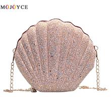 Cute Sequins Small Shell Bag Shoulder Handbags Phone Money Pouch Chain Crossbody