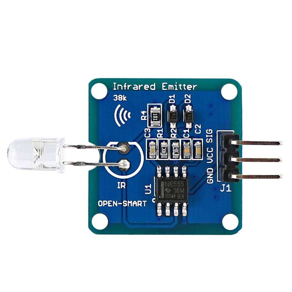 Infrared Transmitter IR Emitter Module With 38K Carrier For Arduino