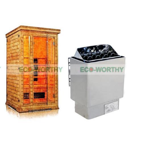 6KW 110 v Wet & Dry Sauna Stufa Regolatore di Temperatura del Riscaldatore Spa Casa DEGLI STATI UNITI Stock