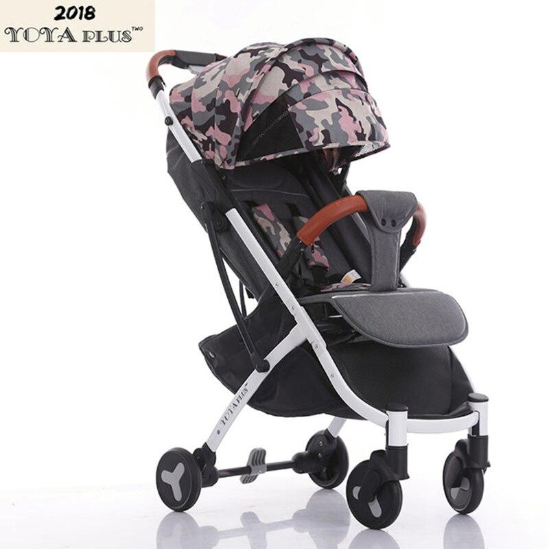 2018 YOYAPLUS luz carrinho de bebê guarda-chuva dobrável portátil ultra-leve de carro pode sentar pode mentir sobre o avião