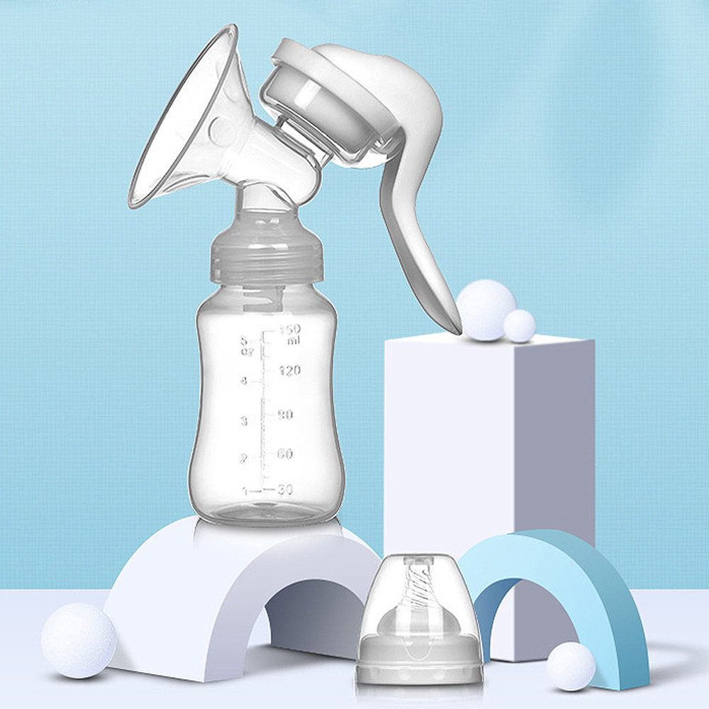 Manual Breast Pump Powerful Baby Nipple Suction 150ml Feeding Milk Bottles Breasts Pumps Bottle Sucking High Quality