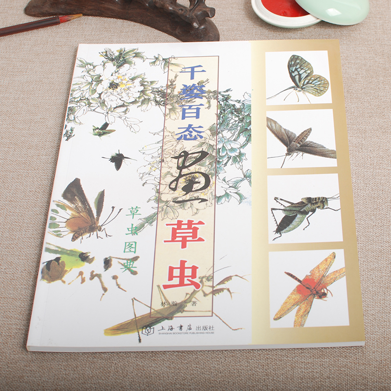 Chinese painting book learn to paint insects new art birds flowersChinese painting book learn to paint insects new art birds flowers