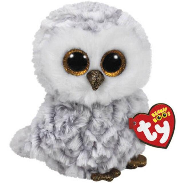 1e96826d278 Ty Vaias Gorro de 15 cm Owlette a Coruja Cinzenta Coleta Regular de Pelúcia  Macia Grande