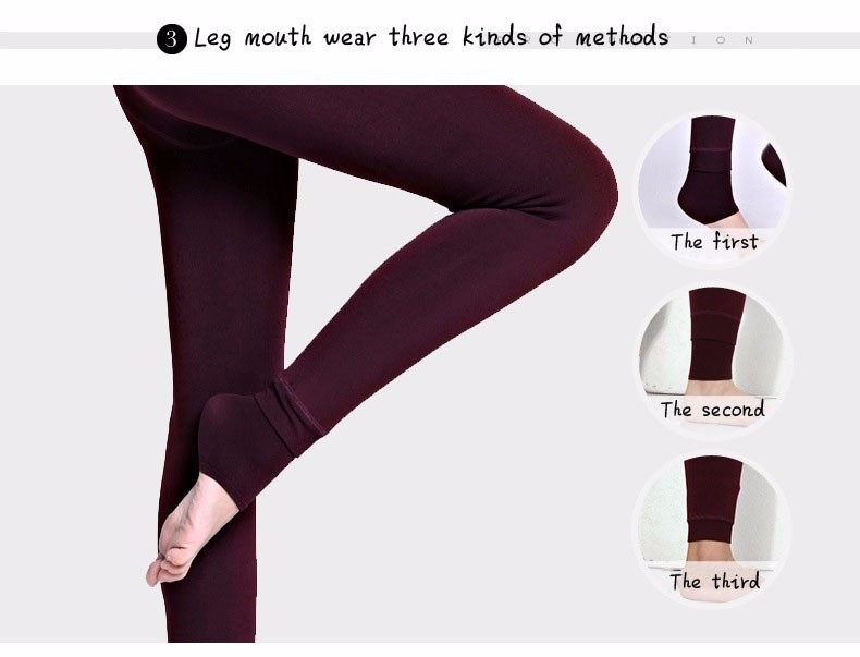 Rooftrellen Hot New Fashion Women's Autumn And Winter High Elasticity And Good Quality Thick Velvet Pants Warm Leggings 27