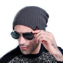 Зима Unisex Мужчины Женщины Теплый Hat Сутулиться Тюбетейку Вязать Teen Мальчик Шляпы