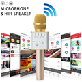 Mini Q7PRO Karaoke Microphone Bluetooth Wireless Microphone Condenser Mic Speaker Home KTV Family Party Singing Record For Phone