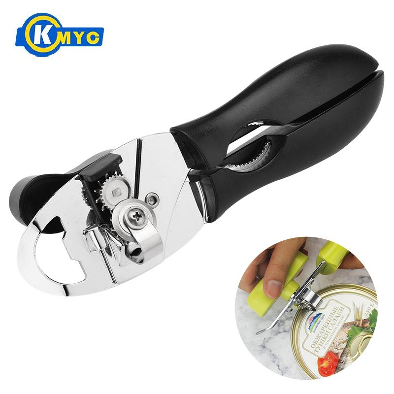 KMYC Stainless Iron Can Openers With Handle Jar Bottle Wrench Side Cut Knife Handy Grips Sharp Cutting Wheel Bar Kitchen Tools