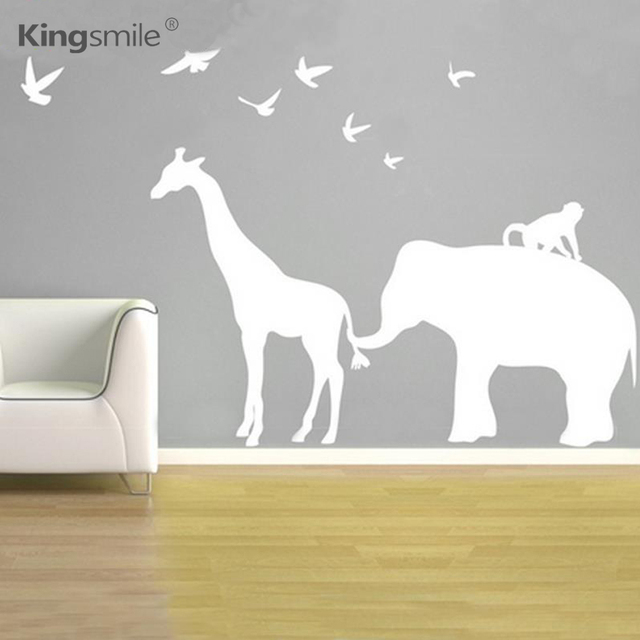 Safari Wall Art aliexpress : buy modern elephant giraffe monkey nursery wall
