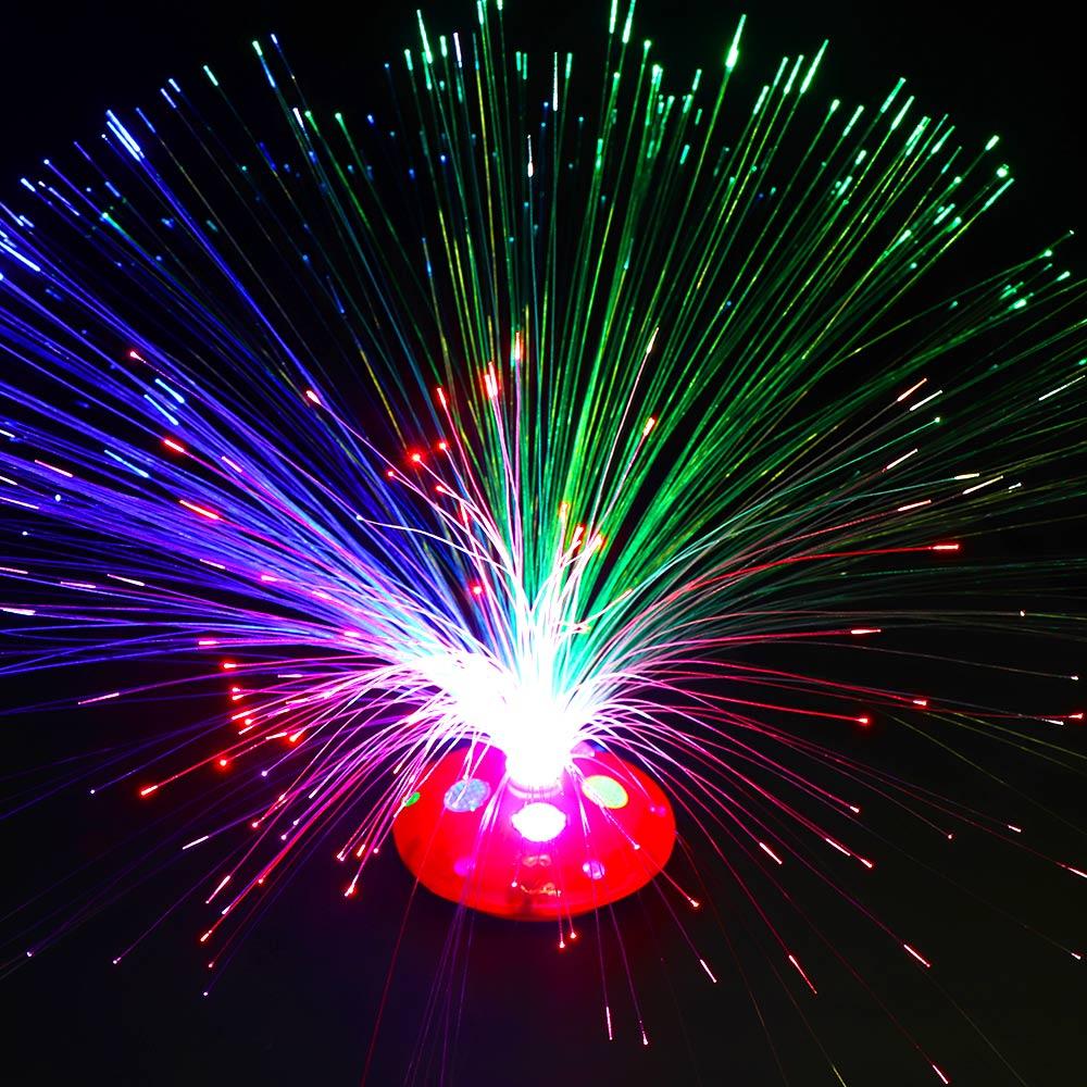 1 Pc Multi-color Led Fiber Optic Light Lamp Holiday Wedding Home Decoration Kids Intelligent Toy For Brain Development