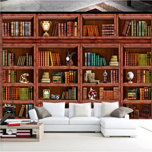 Customize Any size HD 3D Photo Wall paper living room Bookshelf stereo wallpaper for Bedroom TV Sofa Background wall Mural Decor