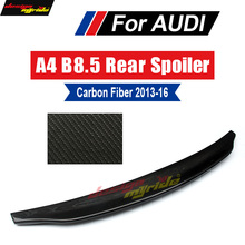 A4 B8.5 wing Rear Spoiler True Carbon fiber Caractere style Fits For Audi A4 A4a A4Q B8.5 Rear Trunk Spoiler Duckbill wing 13-16