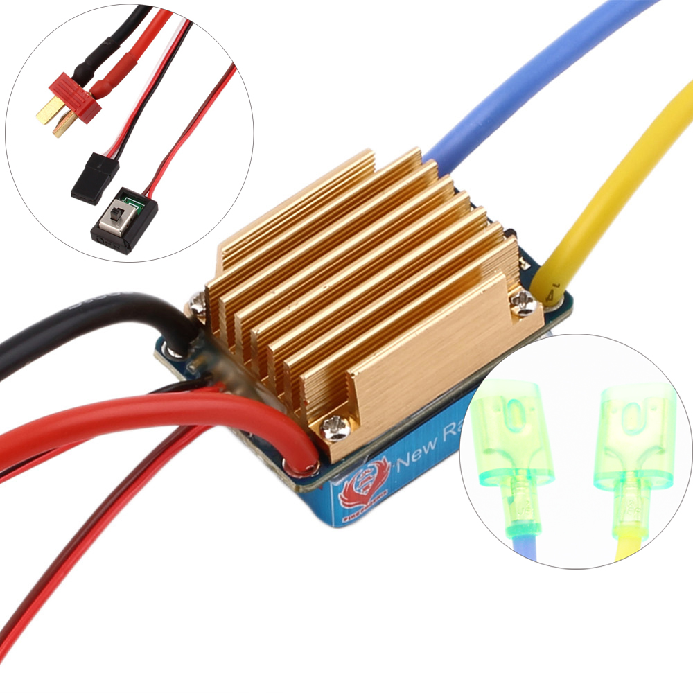 цена на 1pcs New Rain 320A Brushed ESC Speed Controller Dual Mode Regulator band brake 5V 3A for 1/10 RC Car/RC Boat Dropship