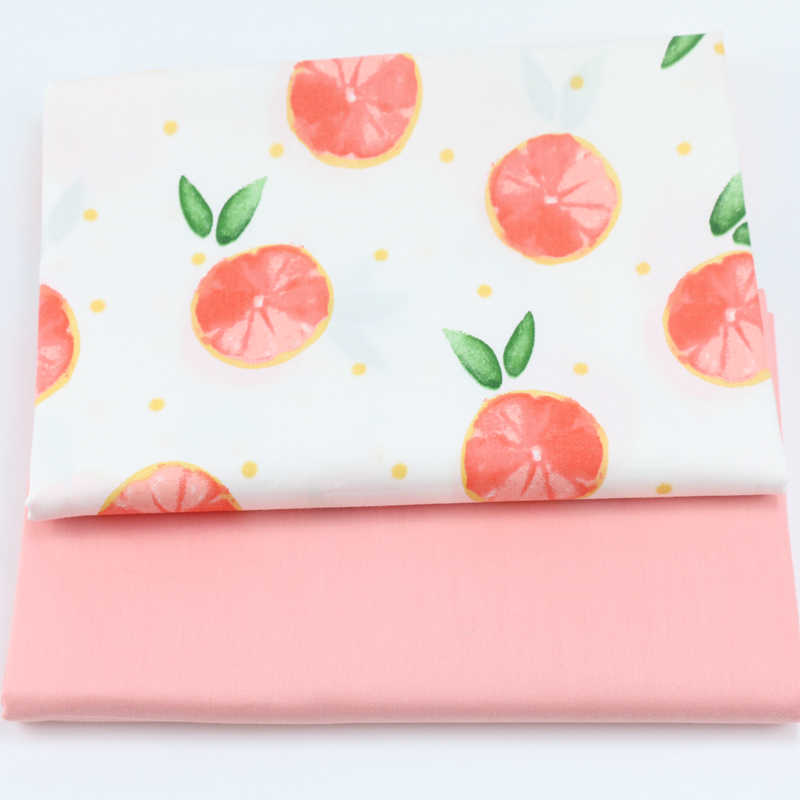 160CM*50CM fruit orange cotton fabric sewing baby cloth infant linens kids bedding fabric cushion patchwork fabric tissue
