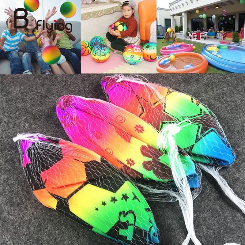 PVC Beach Ball Party Decor Rainbow Volleyball Sports Toy Beach Children Gift