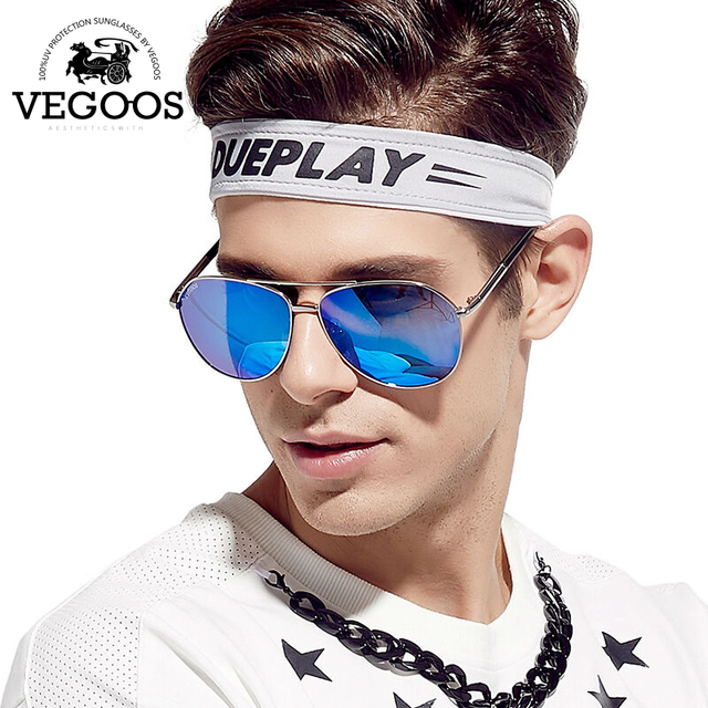 VEGOOS Real Polarized Men Sunglasses Pilot Aviation Gradient Lenses Eyewear Gift For Men's Unisex Sun Glasses #3079