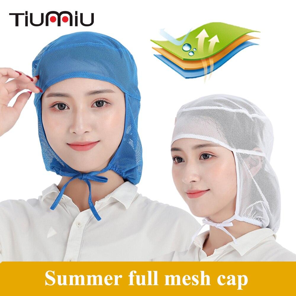 Summer Breathable Mesh Caps Men Women Workshop Dust Cap Chef Waiter Food Service Cafe Kitchen Restaurant Hotel Bakery Work Hat