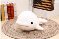 middle size cute foam dolphin toy big head white whale doll pillow gift about 45cm