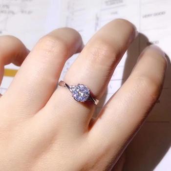 flashing moissanite gemstone ring for women round natural gem 925 sterling silver shiny better than diamond engagement ring gift