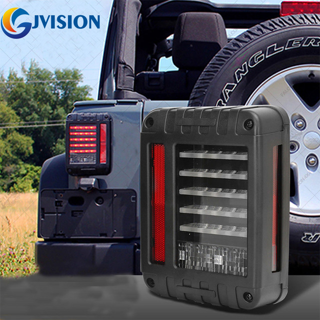 For Jeep Accessories LED Tail light Assembly w/Turn signal & Back Up Waterproof IP67 for Jeep wrangler Unlimited JK 4 Door