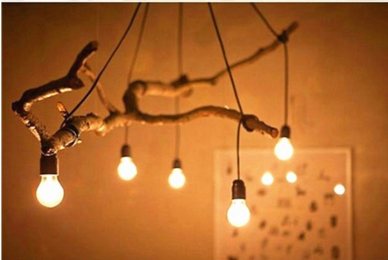 Featured DIY nostalgia hanging branches Mucha Lighting Accessories E27 lamp chandelier high temperature wire(Without bulb) リビング シャンデリア